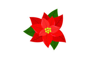Red Poinsettia Flower Craft Design By Creative Fabrica Crafts