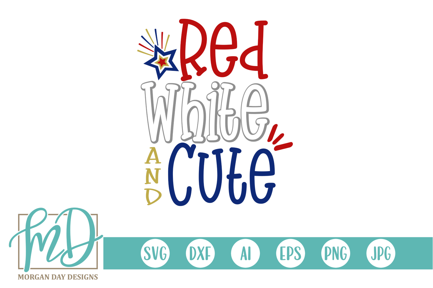 Red White And Cute Svg Graphic By Morgan Day Designs Creative