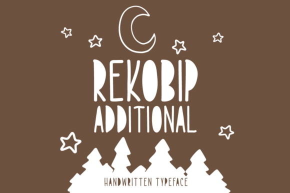 Print on Demand: Rekobip Additional Display Font By Shattered Notion