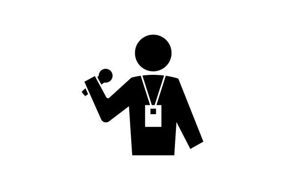 Download Free Reporter Journalist Black Icon Vector Graphic By Hoeda80 for Cricut Explore, Silhouette and other cutting machines.