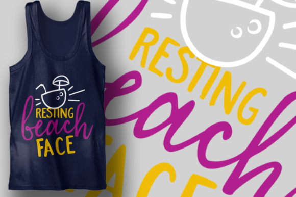 Download Free Resting Beach Face Graphic By Craft N Cuts Creative Fabrica for Cricut Explore, Silhouette and other cutting machines.