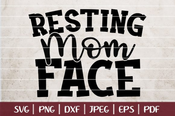 Resting Mom Face Graphic Logos By Burlacu Valentin