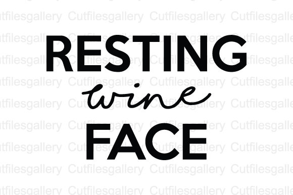 Download Free Resting Wine Face Svg Graphic By Cutfilesgallery Creative Fabrica for Cricut Explore, Silhouette and other cutting machines.