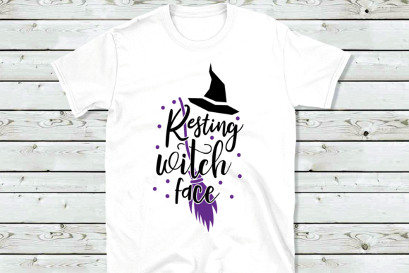 Download Free Resting Witch Face Svg Halloween Svg Graphic By Vr Digital for Cricut Explore, Silhouette and other cutting machines.