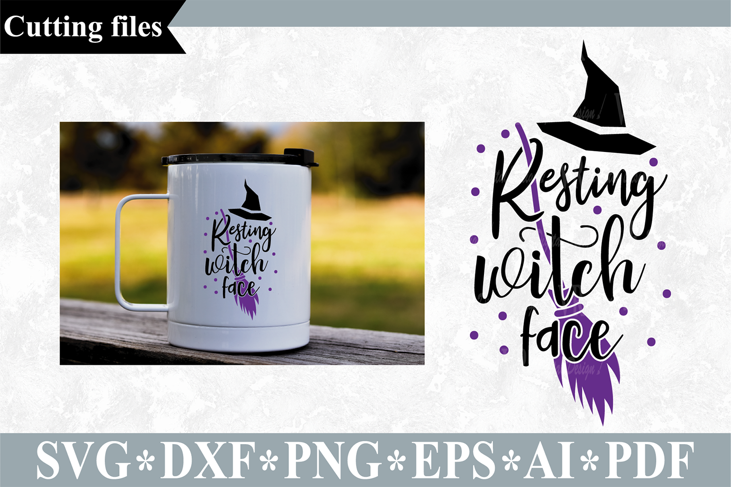 Resting Witch Face Svg Halloween Svg Graphic By Vr Digital