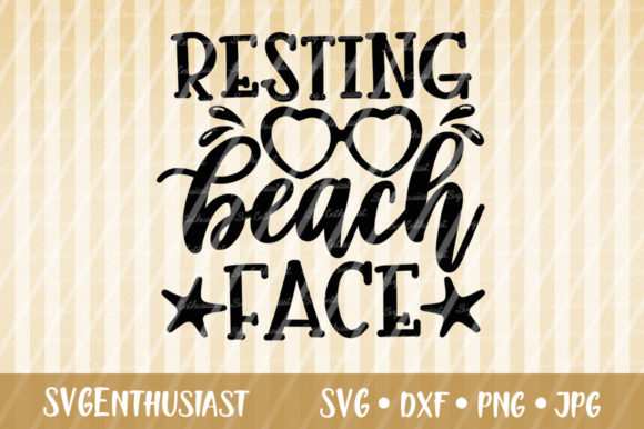 Download Free Resting Beach Face Svg Cut File Graphic By Svgenthusiast for Cricut Explore, Silhouette and other cutting machines.