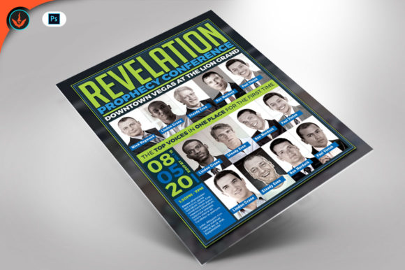 Revelation Prophecy Conference Flyer Graphic By seraphimchris