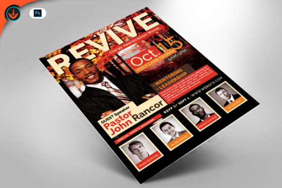 Revival Fall Church Flyer Template Graphic By seraphimchris