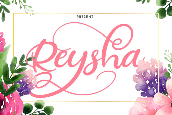 Print on Demand: Reysha Script & Handwritten Font By Vunira