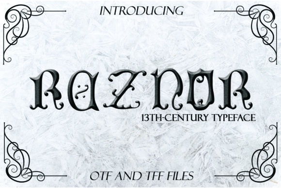 Print on Demand: Reznor Blackletter Font By denestudios - Image 1