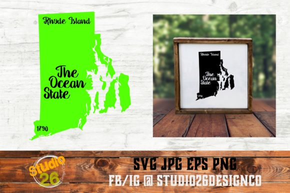 Download Free Rhode Island State Nickname Graphic By Studio 26 Design Co for Cricut Explore, Silhouette and other cutting machines.