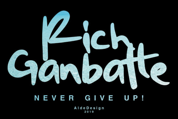 Print on Demand: Rich Ganbatte Script & Handwritten Font By aldedesign