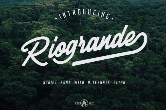 Print on Demand: Riogrande Script & Handwritten Font By Arthy