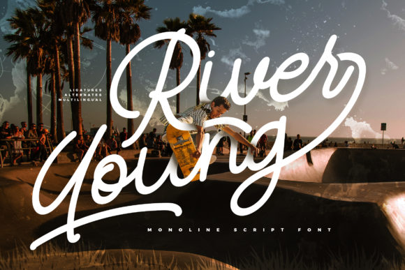 Print on Demand: River Young Script & Handwritten Font By Vunira