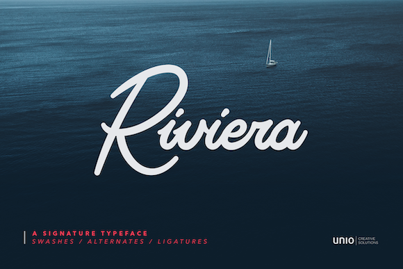 Print on Demand: Riviera Script & Handwritten Font By unio.creativesolutions