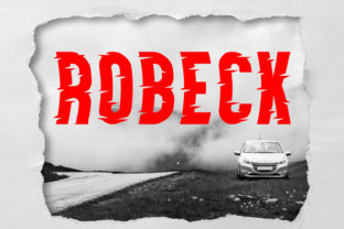 Robeck Font By da_only_aan