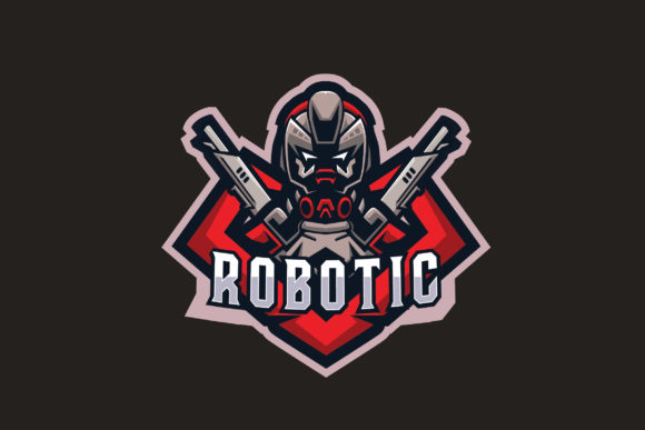 Download Free Robotic E Sports Logo Graphic By Ovoz Graphics Creative Fabrica for Cricut Explore, Silhouette and other cutting machines.