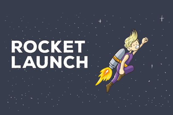 Print on Demand: Rocket Launch Vector Illustration Graphic Illustrations By peterdraw