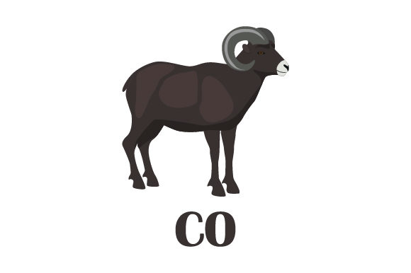 Download Free Rocky Mountain Bighorn Sheep Co Svg Cut File By Creative Fabrica for Cricut Explore, Silhouette and other cutting machines.
