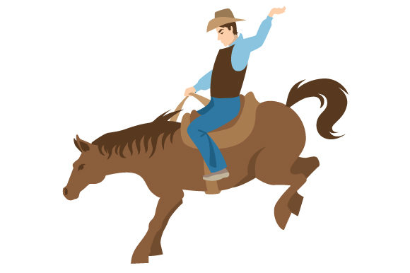 Download Free Rodeo Design With Man Riding Svg Cut File By Creative Fabrica for Cricut Explore, Silhouette and other cutting machines.