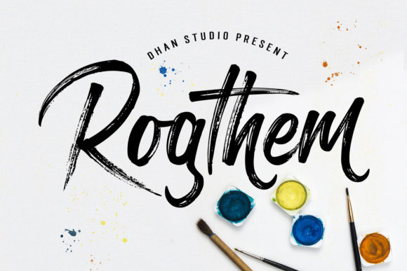 Print on Demand: Rogthem Manuscrita Fuente Por Dhan Studio