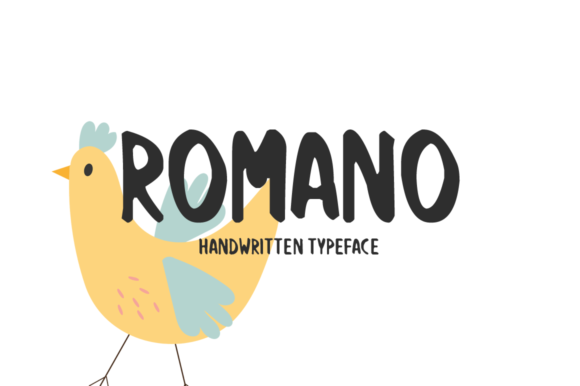 Print on Demand: Romano Script & Handwritten Font By Imposing Fonts