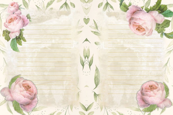 Romantic Roses Backgrounds and Clipart Graphic By The Paper Princess Image 3