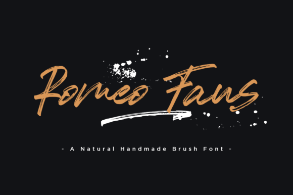 Print on Demand: Romeo Fans Script & Handwritten Font By Haksen