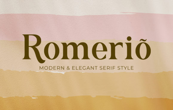 Print on Demand: Romerio Serif Font By Adriansyah - Image 1