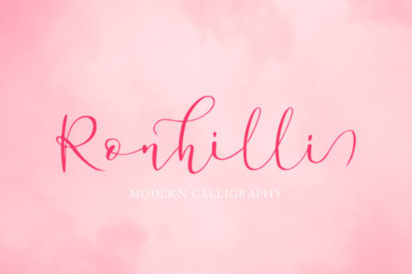Print on Demand: Ronhilli Script & Handwritten Font By Juncreative