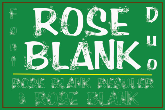 Print on Demand: Rose Blank Decorative Font By YanIndesign