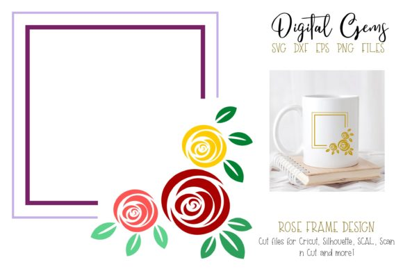 Rose Frame Design Graphic By Digital Gems Creative Fabrica