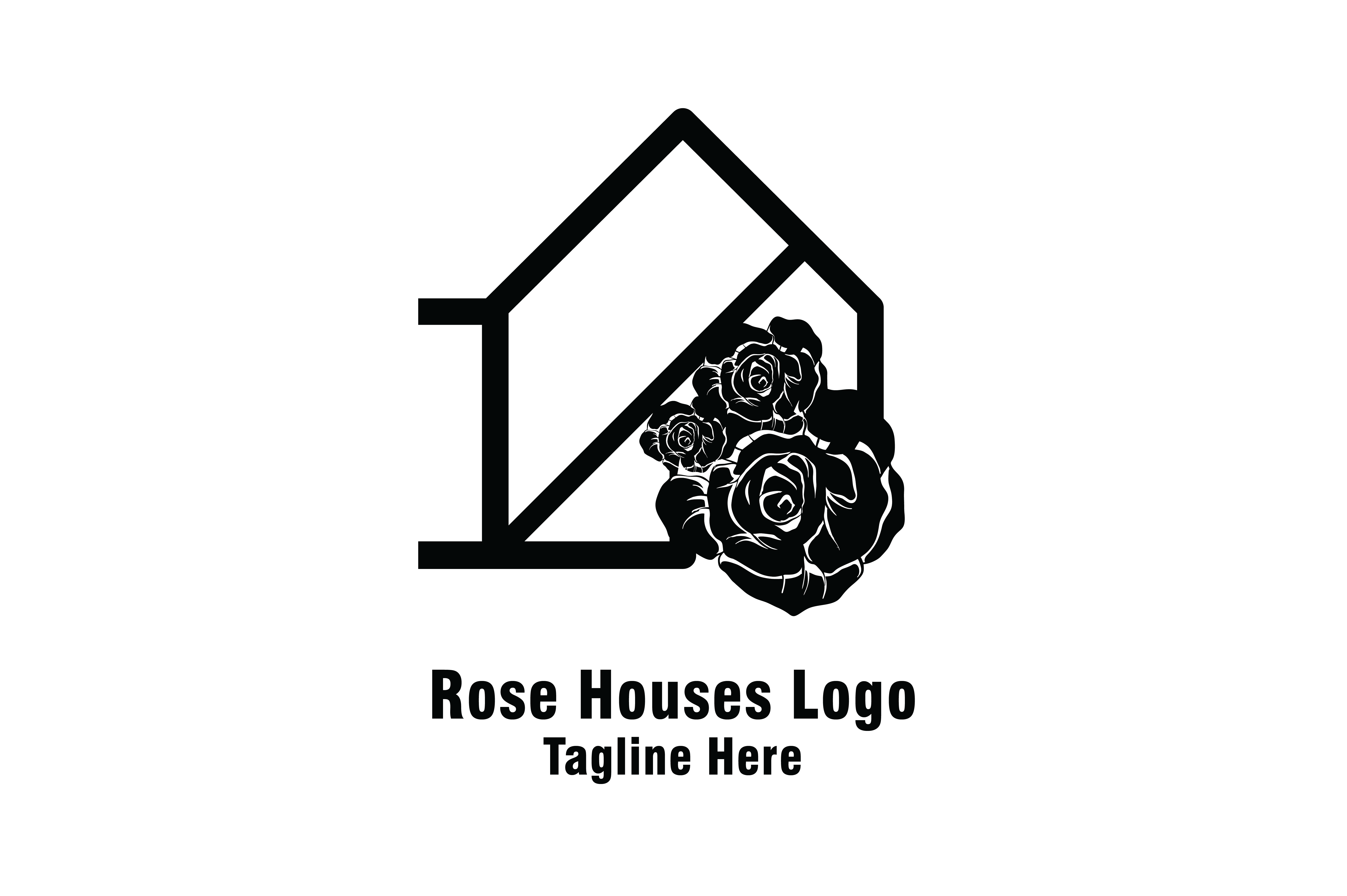 Download Free Rose Houses Rosse Home Logo Vector Graphic By Yuhana Purwanti for Cricut Explore, Silhouette and other cutting machines.