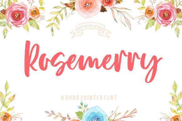 Print on Demand: Rosemerry Script Script & Handwritten Font By delishadesign.font