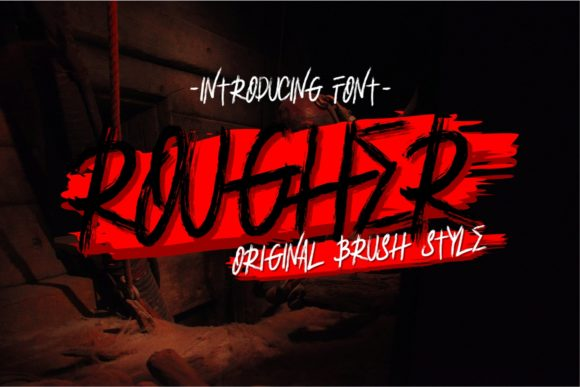 Print on Demand: Rougher Blackletter Font By putracetol - Image 1