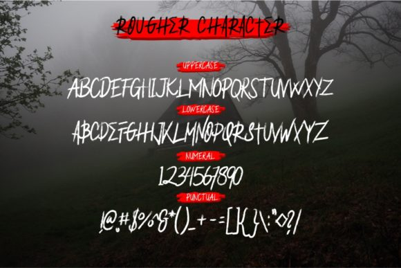 Print on Demand: Rougher Blackletter Font By putracetol - Image 7