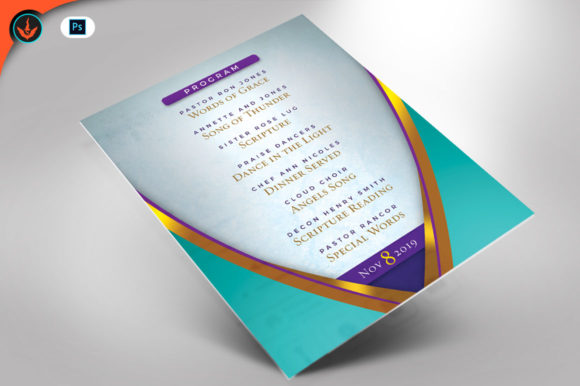 Download Free Royal Pastor Birthday Flyer Program Graphic By Seraphimchris Creative Fabrica SVG Cut Files