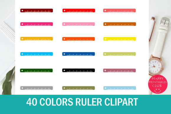Print on Demand: Ruler Clipart- Teacher Resource Clipart Graphic Illustrations By Happy Printables Club
