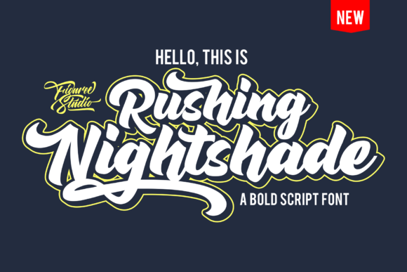 Print on Demand: Rushing Nightshade Script & Handwritten Font By figuree studio