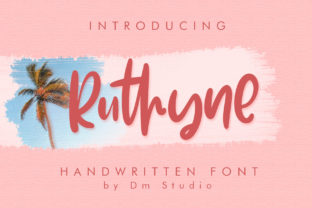 Ruthyne Font By dmletter31