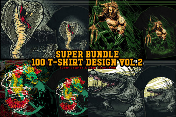 Print on Demand: Super Bundle 100 TS Design Vol. 2 Graphic Illustrations By fluffyartstudio