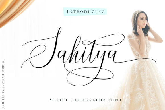 Print on Demand: Sahitya Script & Handwritten Font By Sulthan Studio
