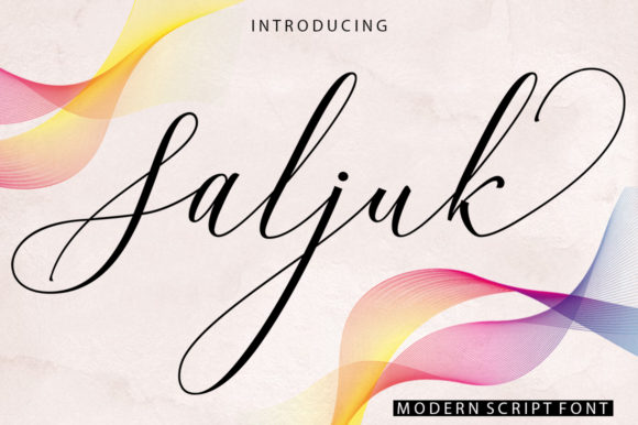 Print on Demand: Saljuk Script & Handwritten Font By ayeelastudio