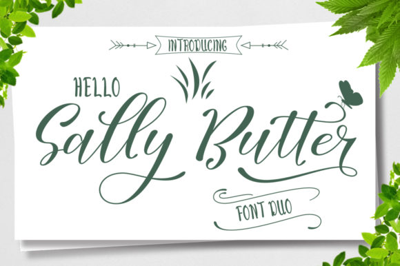 Print on Demand: Sally Butter Script & Handwritten Font By Natural Ink - Image 1