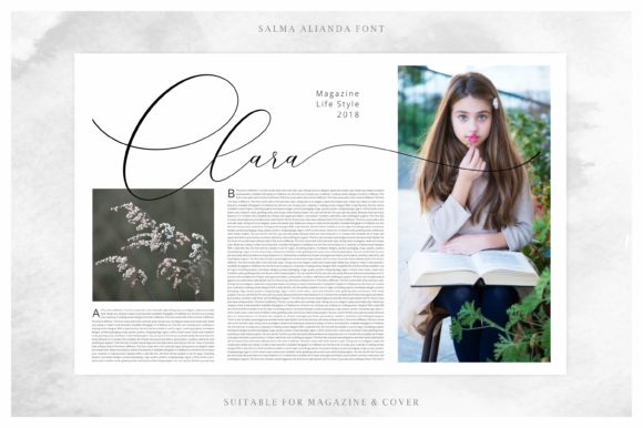 Print on Demand: Salma Alianda Script & Handwritten Font By FadeLine - Image 7