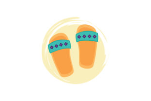 Sandal Abstract Print Style Craft Design By Creative Fabrica Crafts