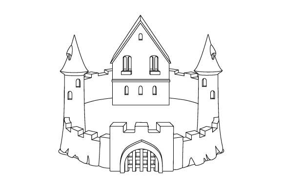 Print on Demand: Sandcastle Line Art Coloring Page Graphic Coloring Pages & Books Kids By GraphicsFarm