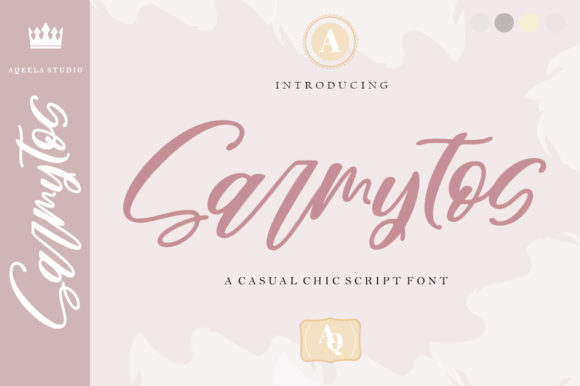 Print on Demand: Sarmytos Script & Handwritten Font By Aqeela Studio