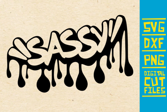 Download Free Sassy Dripping Graffiti Svg Afro Women Graphic By for Cricut Explore, Silhouette and other cutting machines.
