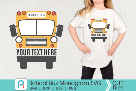 School Bus Monogram Svg, School Bus Svg Graphic Crafts By Pinoyartkreatib